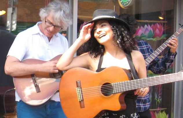 Photo: Rosy Cervantes with Richard Fouchaux in Kensington Market, 2016